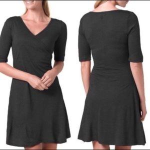 Prana Nadia 3/4 Sleeve Wrap Dress